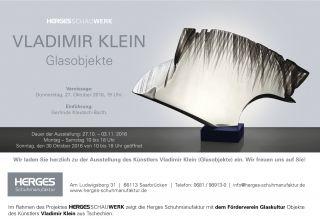 Einladungskarte Glasobjekte von Vladimir Klein