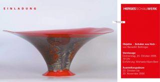 Einladungskarte Objekte - Schalen aus Holz von Benedikt Bohlinger