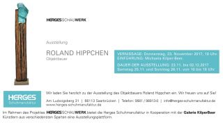 Einladungskarte Ausstellung Roland Hippchen