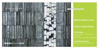 Einladungskarte Strukturen im Dialog von Brigitta Hüttermann