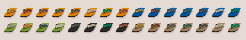 Zehensteg-Sandalen nach Maß