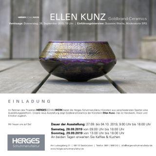 Einladungskarte Vernissage Keramik-Kunst