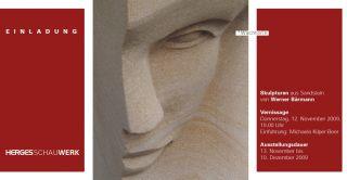 Einladungskarte Skulpturen aus Sandstein von Werner Bärmann