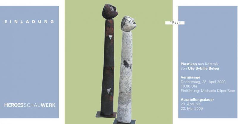 Plastiken aus Keramik von Ute Sybille Belser
